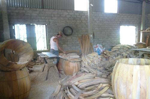 cách làm trống múa lân, tang trống bằng gỗ mít