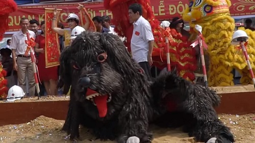 ý nghĩa múa lân chó trong lễ động thổ